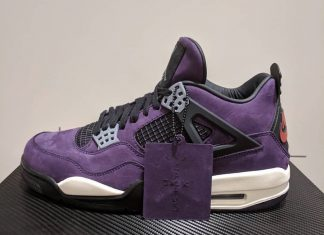 "on sale 89a61 f7c0d A Closer Look at Travis Scott s Air Jordan 4 in ""Purple"""
