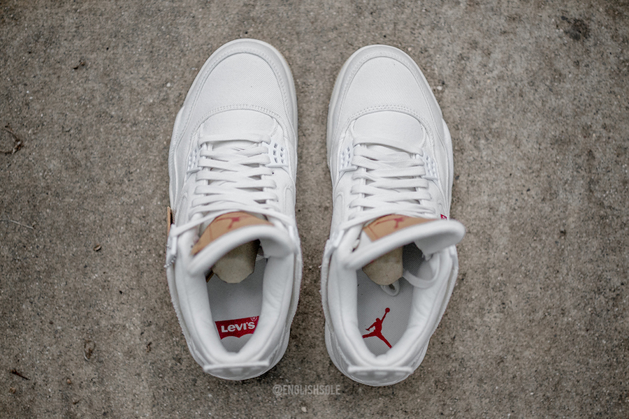 White Denim Levis Air Jordan 4 Release Date
