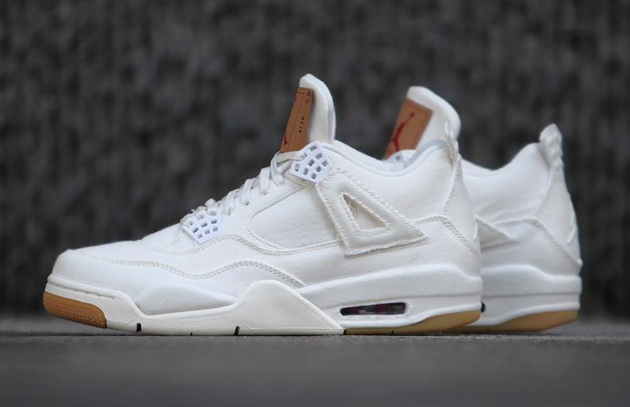White Levis Air Jordan 4 Release Date Price