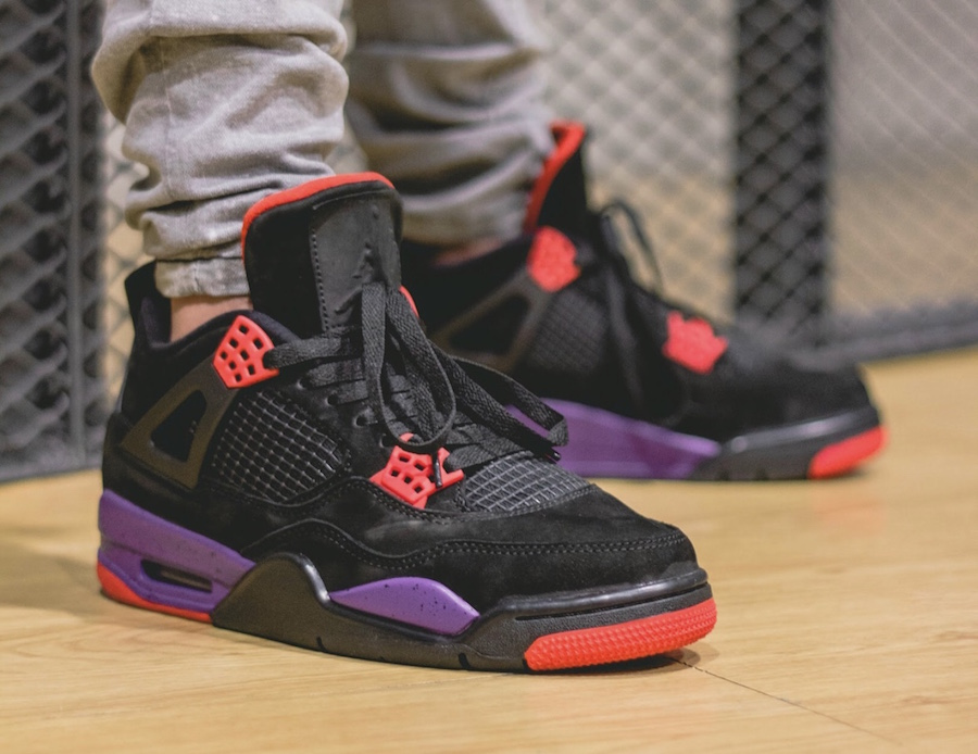 Air Jordan 4 Raptors On-Feet
