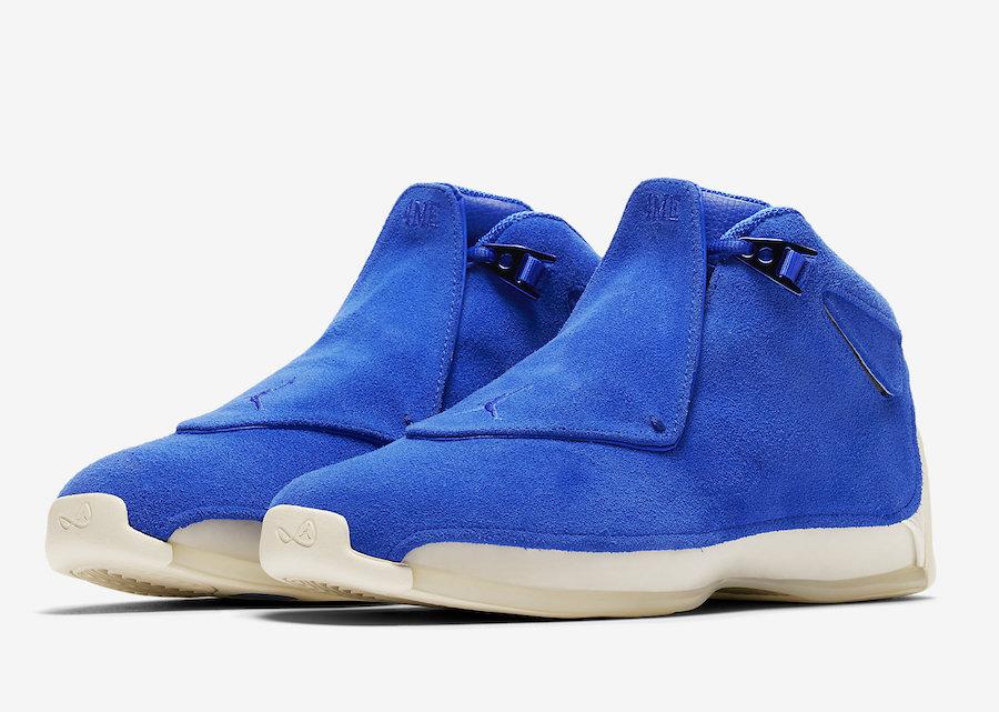 8d038d570b378e Air Jordan 18 Blue Suede Release Date - Sneaker Bar Detroit