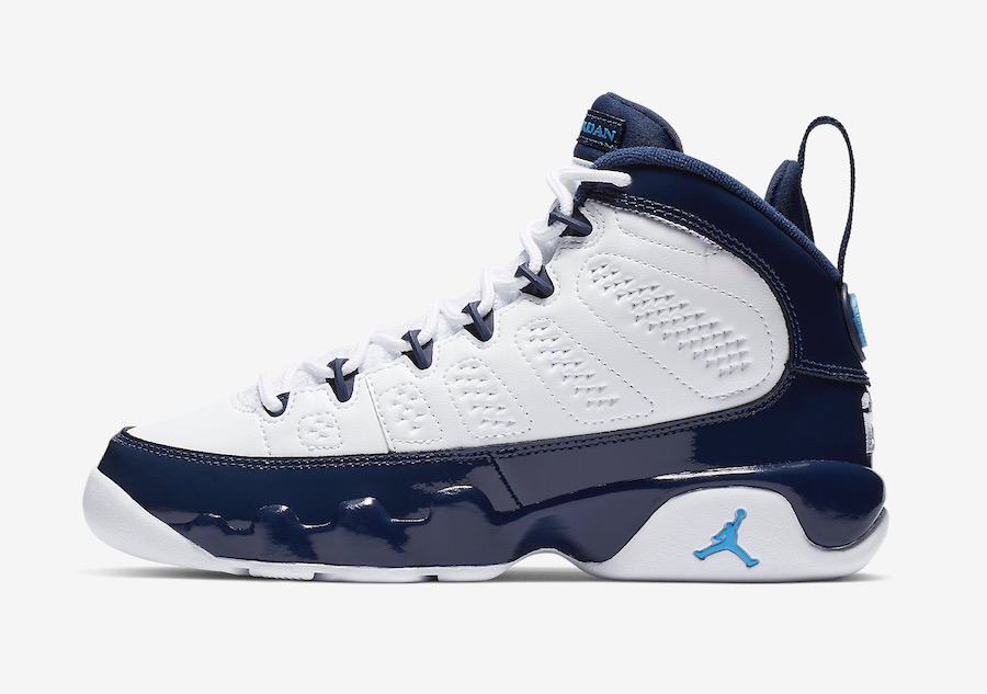 official photos 6df42 546ab Air Jordan 9 University Blue 302370-145 Release Date