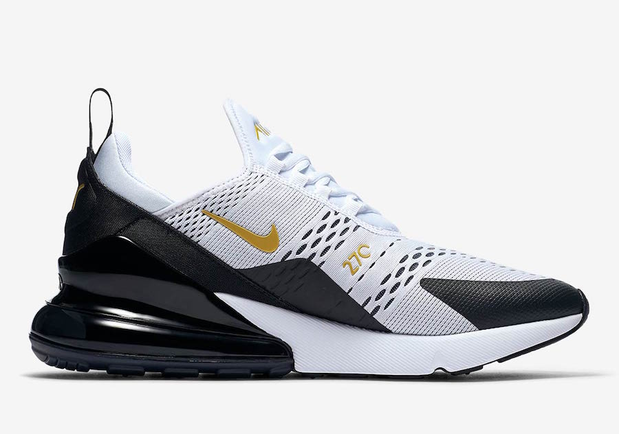 Nike Air Max 270 White Black Gold AV7892-100