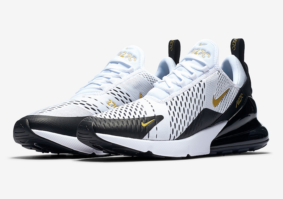 Nike Air Max 270 White Black Gold AV7892 100 Sneaker Bar