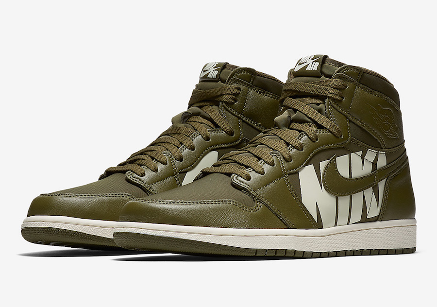 Air Jordan 1 High OG Olive Canvas 555088-300 Release Date