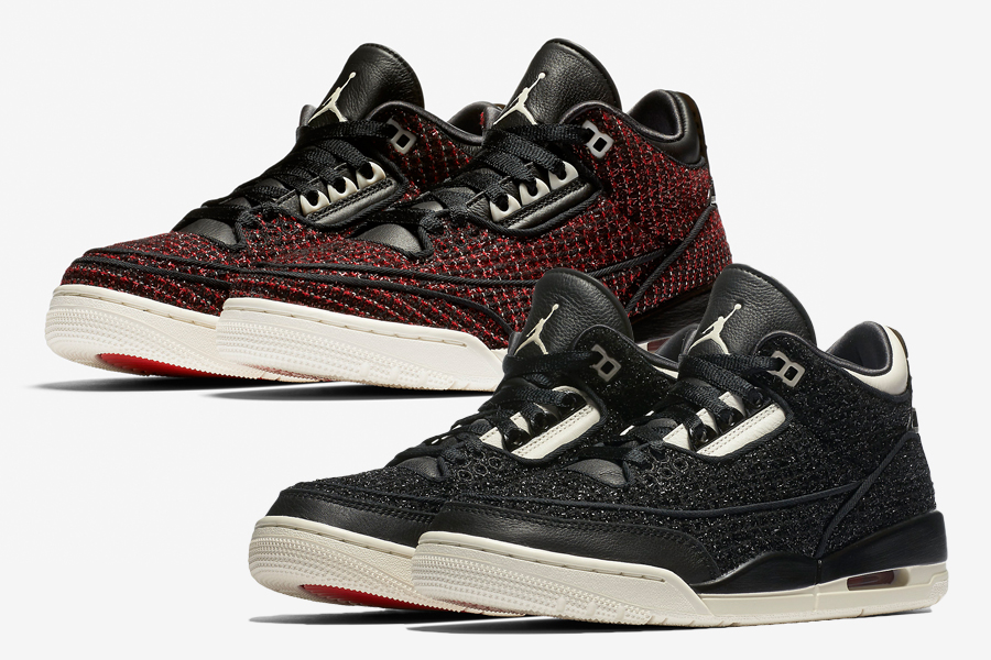 6e5c201f1b4 Vogue Air Jordan 3 AWOK University Red Black Release Date - Sneaker ...