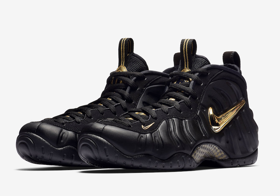 timeless design 5ffaf 6f998 Nike Air Foamposite Pro Black Metallic Gold 624041-009 Release Date Price