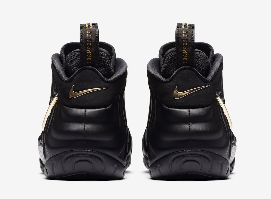 Nike Air Foamposite Pro Black Metallic Gold 624041-009 Release Date Price