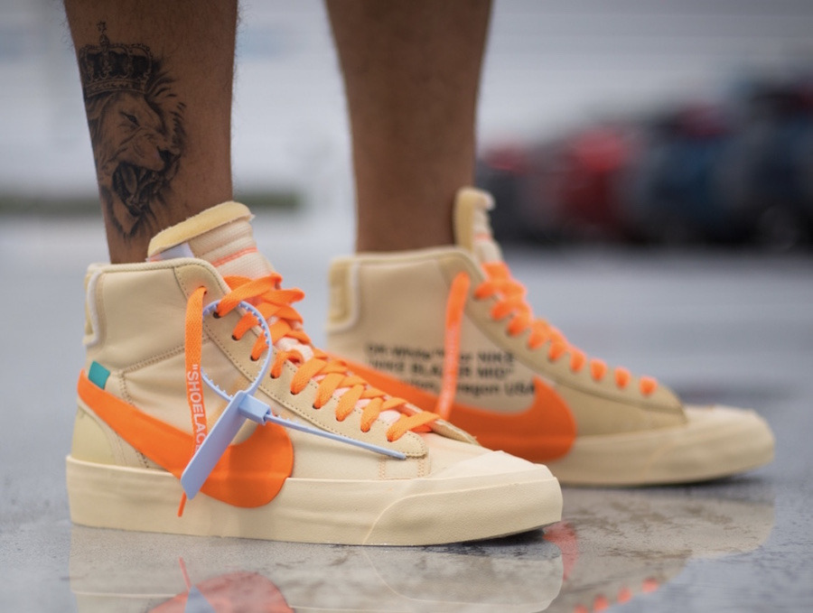 Off-White Nike Blazer Mid All Hallows Eve AA3832-700 On-Feet