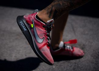 Off-White Nike Zoom Fly Red Sample