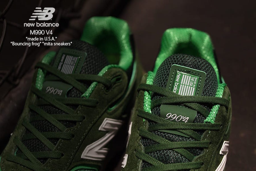 mita sneakers New Balance 990v4 Bouncing Frog Release Date