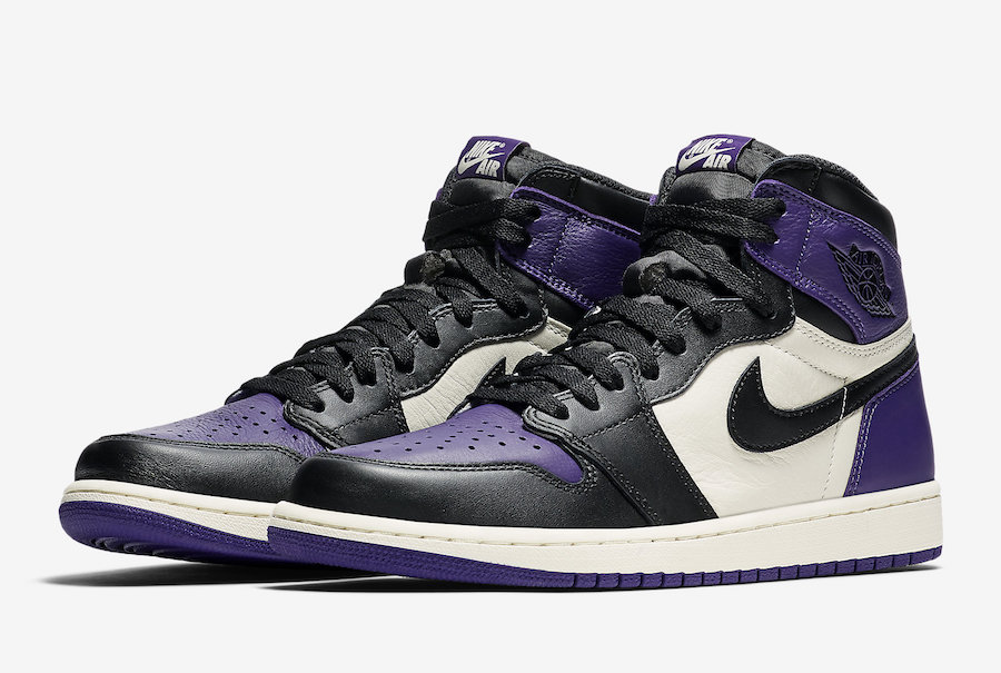 Air Jordan 1 Court Purple 555088-501 Release Date - Sneaker Bar Detroit af3be3913