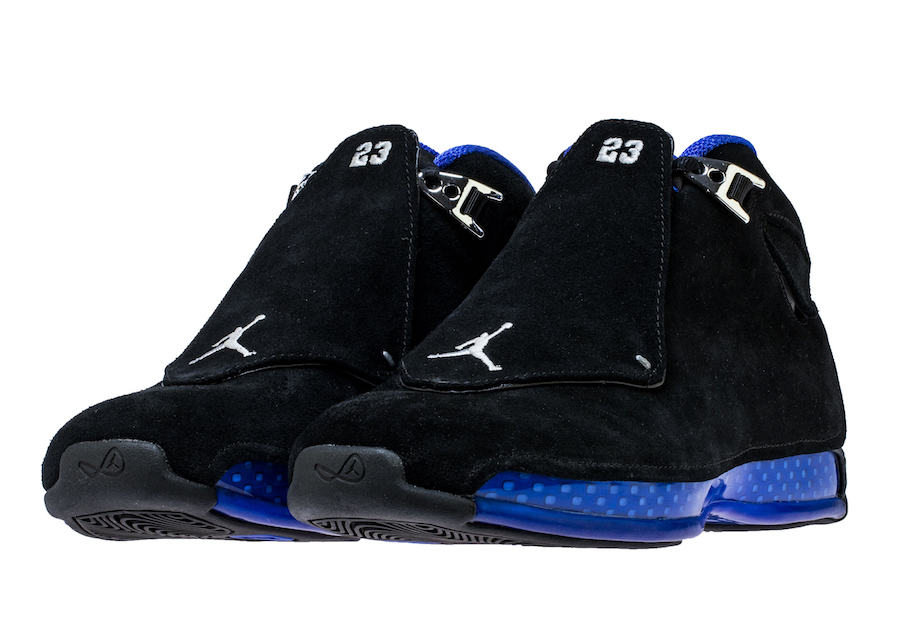 Air Jordan 18 Retro Black Sport Royal AA2494-007 Release Date