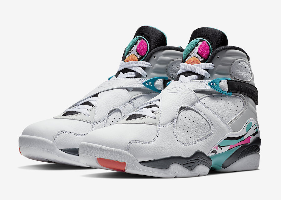 Air Jordan 8 South Beach Turbo Green Spurs 305381-113 Release Date
