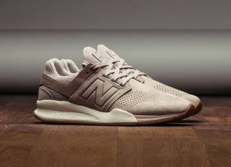 New Balance 247 Luxe Leather Marron