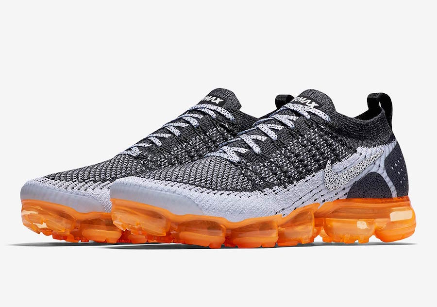 5150b1acc3d739 Nike Air VaporMax Mango Safari Black Silver Orange 942842-106 Release Date