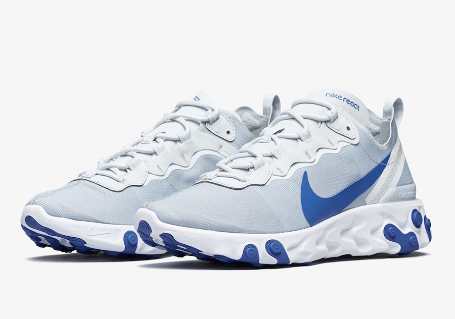 los angeles 20b61 6501a Nike React Element 55 Racer Blue BQ6166-006 Release Date