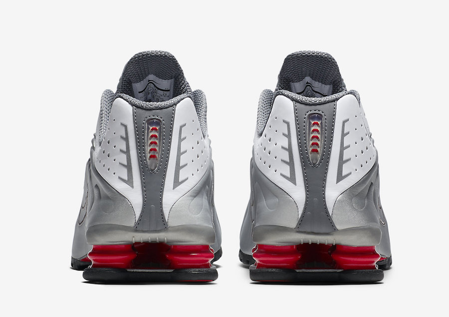 Nike Shox R4 OG 2018 White Comet Red Black Metallic Silver BV1111-100 Release Date Price