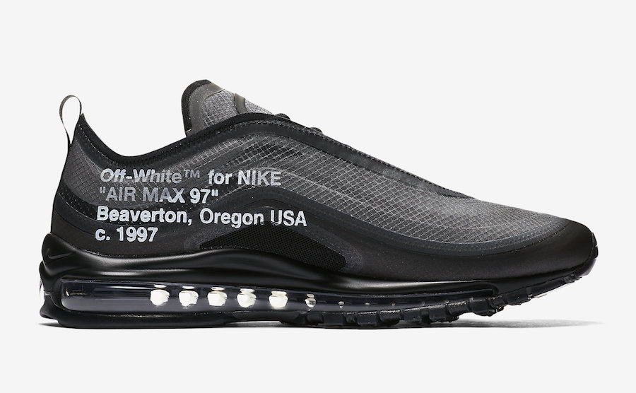 buy online 4ae37 d4f82 Off-White Nike Air Max 97 Black AJ4585-001 Release Date Price