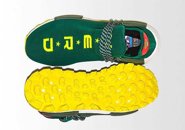 new concept 8f190 0c0c8 Pharrell BBC adidas NMD Hu NERD Green Yellow Release Date - SBD