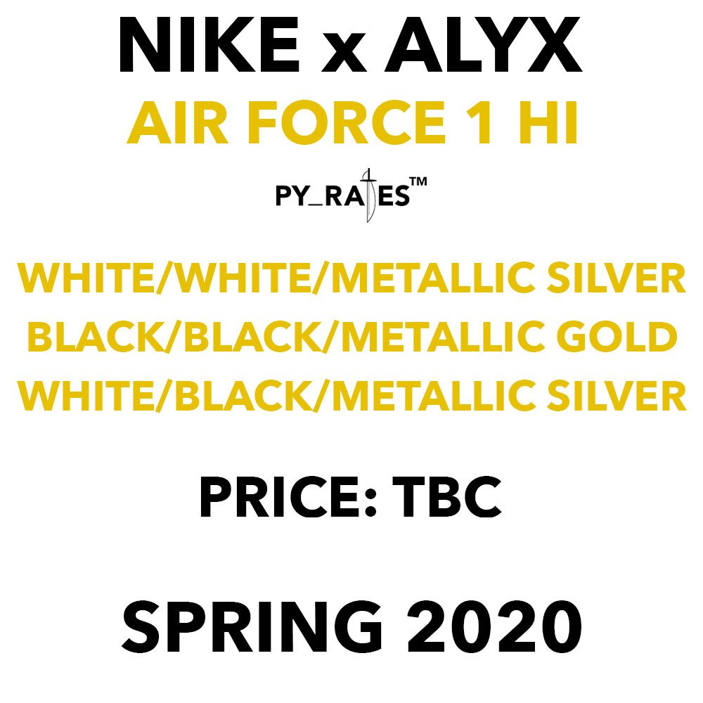 Alyx Nike Air Force 1 Release Date
