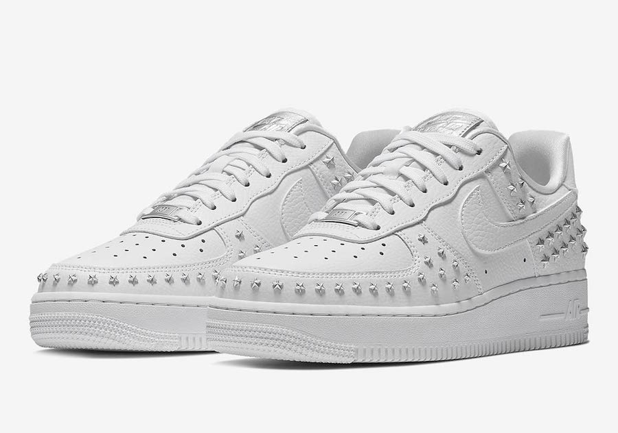 Nike Air Force 1 Low Stars White Sivler AR0639-100 Release Date
