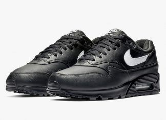 Nike Air Max 90/1 Black Leather AJ7695-001 Release Date