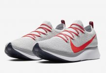 Nike Zoom Fly Flyknit Pure Platinum Bright Crimson AR4561-044 Release Date