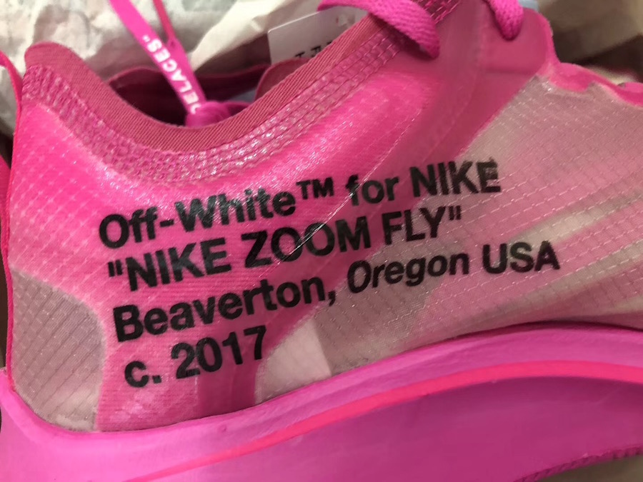 Off-White Nike Zoom Fly Tulip Pink Racer Pink AJ4588-600 Release Date