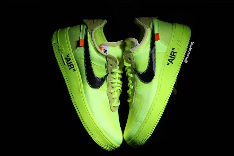 Off-White x Nike Air Force 1 Volt AO4606-700 Release Date