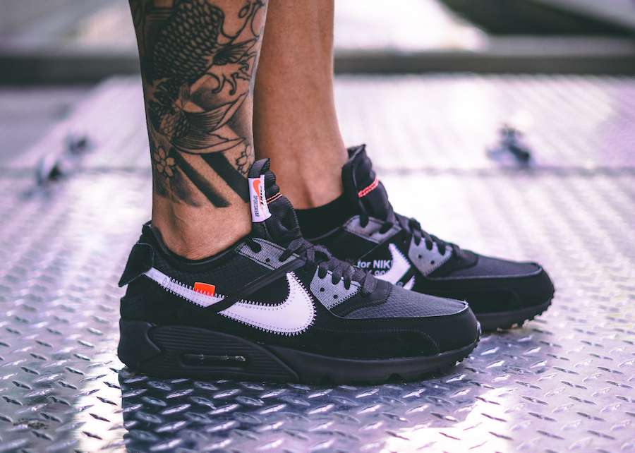 Off-White x Nike Air Max 90 Black Release Date