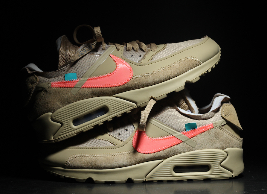 Off-White x Nike Air Max 90 Desert Ore AA7293-200 Release Date