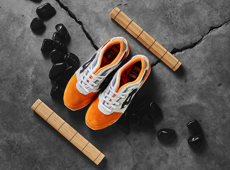 Afew x BEAMS x ASICS Gel Lyte III Orange Koi Release Date