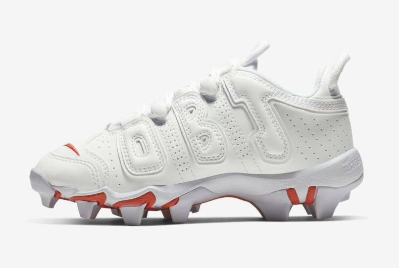 b708f503df338 Nike Releases OBJ s Uptempo-Inspired Football Cleats – ALL SNKRS