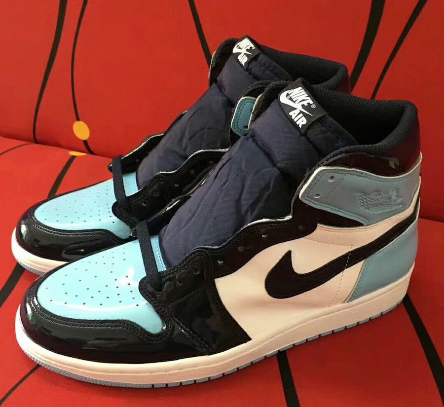 ace21f74b5c Air Jordan 1 UNC Patent Leather CD0461-401 Release Date - SBD