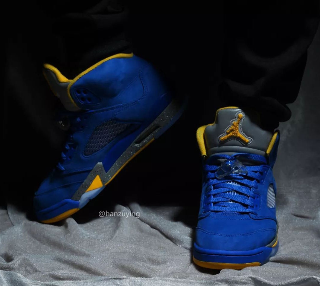 57c4653077d4 Air Jordan 5 JSP Laney Varsity Maize Varsity Royal Release Date ...