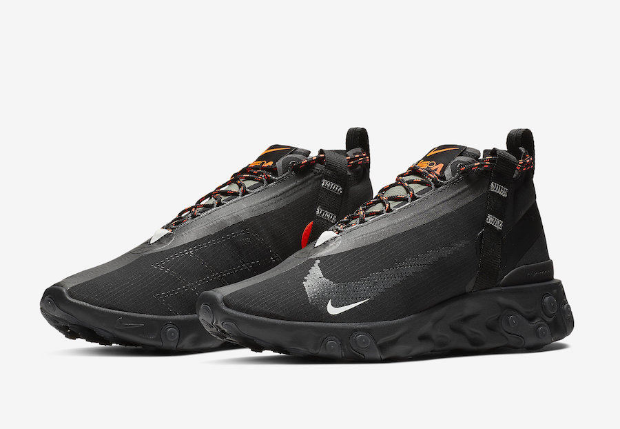 Nike React LW WR Mid ISPA Black AT3143-001 Release Date