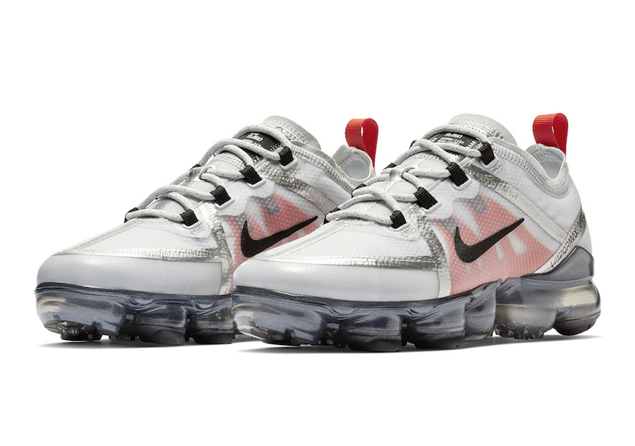 d4eb6ae4a3288 Nike VaporMax 2019 GS Silver White Red Black Release Date - SBD