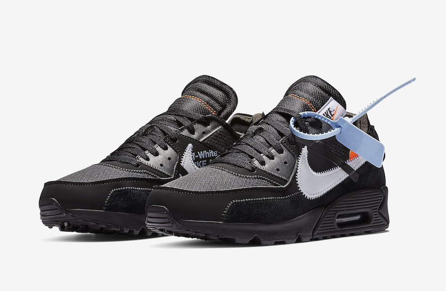 low priced 527aa 02a9e Off-White Air Max 90 Black AA7293-001 Release Date Price
