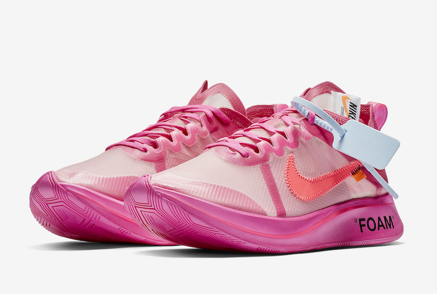 99540f2f61ca Off-White Nike Zoom Fly SP Pink AJ4588-600 Release Date Price
