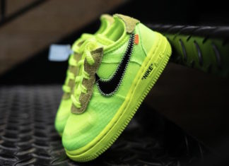 Off-White x Nike Air Force 1 Volt Toddler Release Date