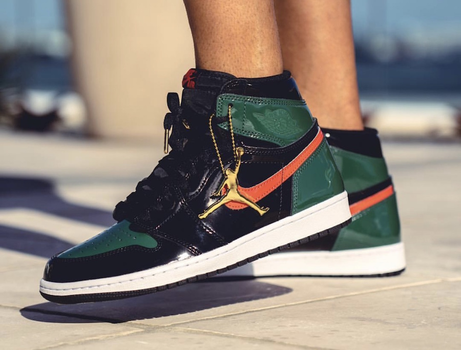 SoleFly Air Jordan 1 Patent Leather On-Foot