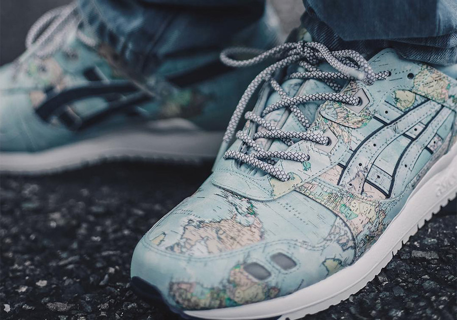 atmos ASICS Gel Lyte III World Map Release Date