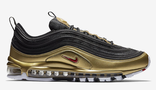 quality design ca2a6 f874f Nike Air Max 97 QS Color  Black Varsity Red-Metallic Gold-White Style Code   AT5458-002. Release Date  November 9, 2018. Price   180 — Buy  eBay    Nike