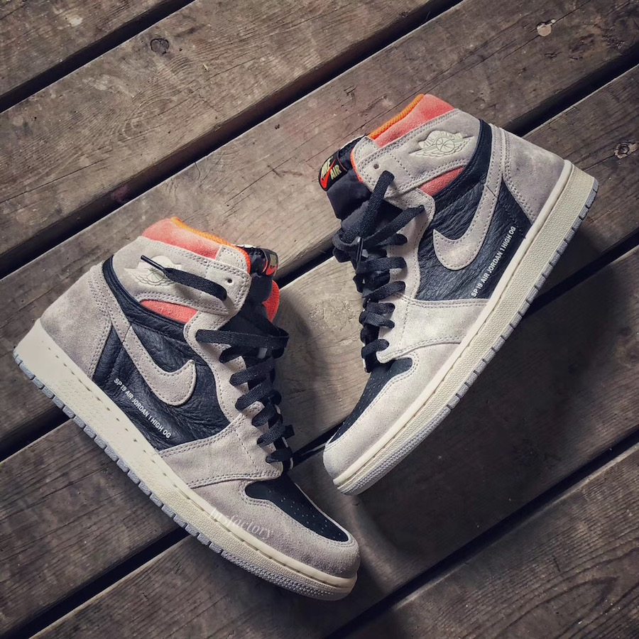 Air Jordan 1 Neutral Grey Hyper Crimson Black 555088-018 Release Date Price