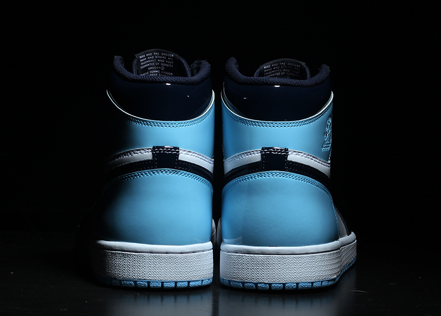 Air Jordan 1 UNC Patent Obsidian Blue Chill CD0461-401 Release Date