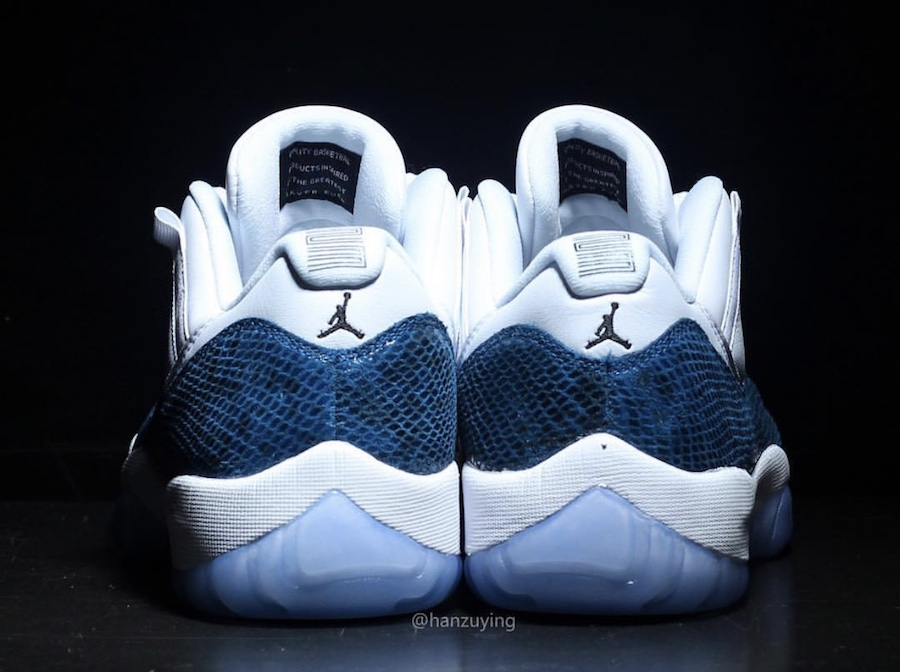 53c8150a717b Air Jordan 11 Low Navy Blue Snakeskin CD6846-102 Release Date Pricing