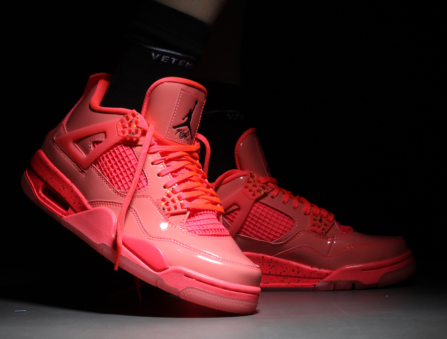 finest selection 83318 5da3d Air Jordan 4 Womens Hot Punch AQ9128-600 Release Date On-Feet