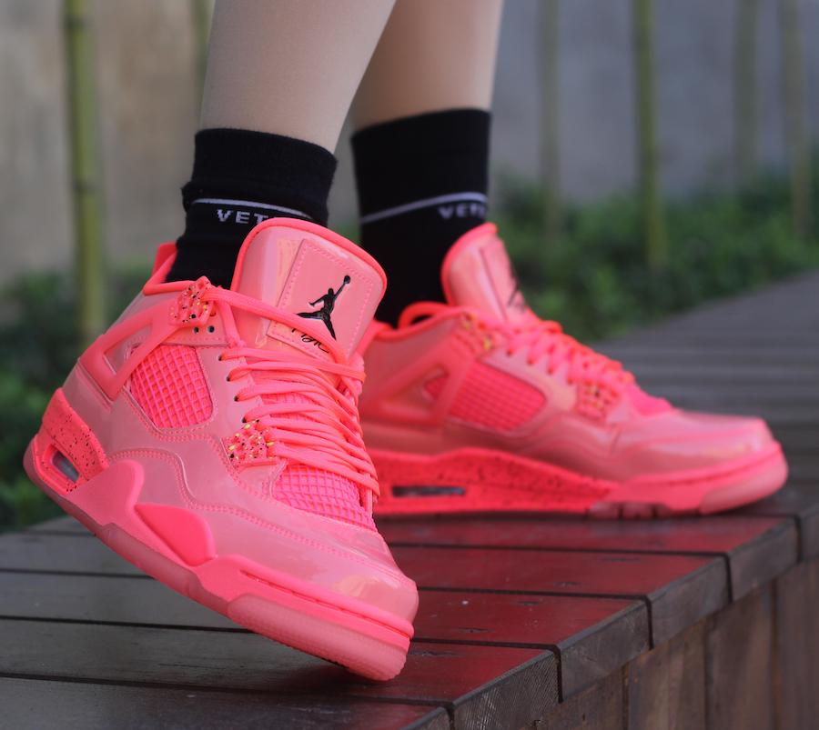 052be47e31895a Air Jordan 4 Womens Hot Punch AQ9128-600 Release Date On-Feet