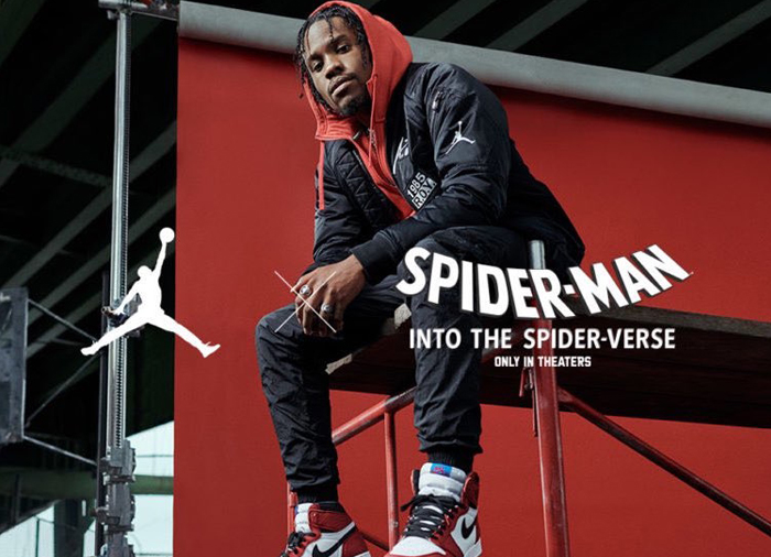 "60cc9f2a599476 Miles Morales Himself Wears The Air Jordan 1 Retro High OG ""Origin Story"""